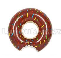 """Надувной плавательный круг """"Шоколадный пончик"""" 80 см"""