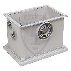 Колодец заземления  контрольно-измерительный 310х210х230 мм, пластик