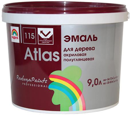 АТЛАС Эмаль для окон и дверей 0.9 кг