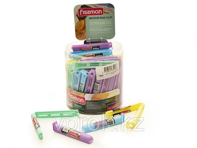 7594 FISSMAN Зажим для пакетов средний 9 см (пластик)