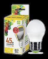 Лампа светодиодная LED-шар-standard 5Вт шар 3000К тепл. бел. E27 450лм 160-260В ASD
