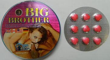 """Мужская виагра """"Big Brother"""", 9 таблеток"""