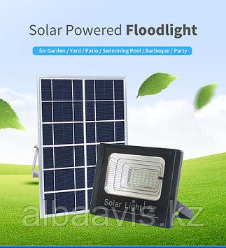 Прожектор на солнечной батарее 25 ватт LED для наружного и внутреннего освещения