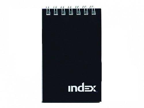 """Блокнот INDEX """"Office"""" на спирали, А7, 40 листов в клетку, черный"""