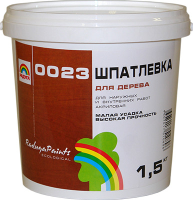 РАДУГА 0023 Шпатлевка для дерева 0,5 кг