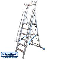 Лестница-стремянка оборудованная большой платформой и дугой безопасности 14 ступ. KRAUSE STABILO, фото 1
