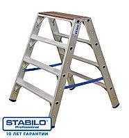 Двухсторонняя лестница-стремянка с деревянной площадкой KRAUSE STABILO