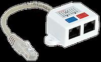 ITK Разветвитель (Y-адаптер) кат.5Е 1RJ45-2xRJ45, белый