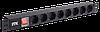 ITK PDU Панель питания 8 розеток нем. ст, с LED выкл,1U, шнур 2м вилка нем. станд.