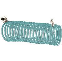 Полиуретановый спиральный шланг профессиональный BASF, 15 м, с быстросъемными соединением 57009 (002)