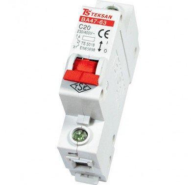 Автоматический выключатель Teksan 1P 32A