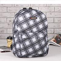 Рюкзак молодежный Ромбы 30*18*42 отдел на молнии карман серо черный