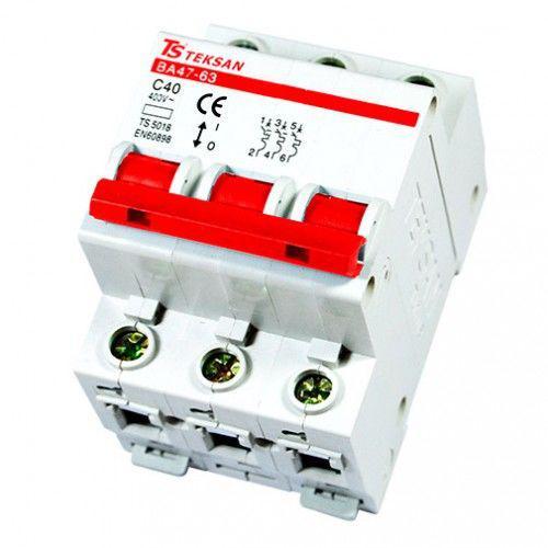 Автоматический выключатель Teksan 3P 25A