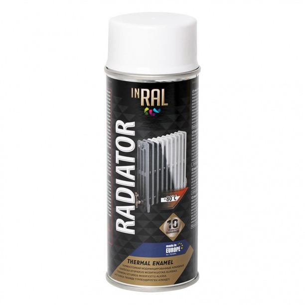 Краска аэрозольная для радиатора белая INRAL 400 мл