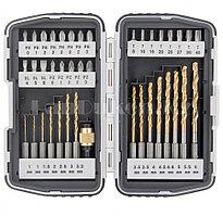 Набор бит и свёрл,магнитный адаптер,CrV, в пласт. боксе,40шт. 11322 (002)