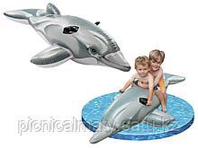 """58539 Надувной """"Дельфин"""" Intex 201х76 см"""