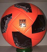 """Футбольный мяч ЧМ """"Telstar 18"""" кожаный (оранжевый) доставка, фото 2"""