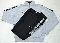 Костюм спортивный мужской Nike Jast Do It серый меланж/черный