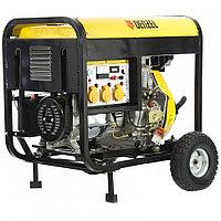 Дизельный генератор DD6300Е, 5,0 кВт, 220В/50Гц, 15 л, электростартер, DENZEL, 94657, фото 1