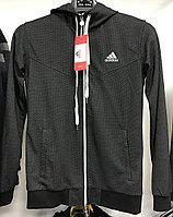 Костюм спортивный мужской Adidas с капюшоном серый