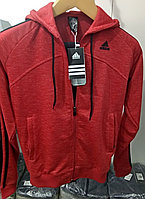 Костюм спортивный мужской Adidas с капюшоном красный меланж