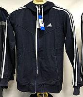 Костюм спортивный мужской Adidas с капюшоном темно-серый