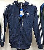 Костюм спортивный мужской Adidas с капюшоном синий