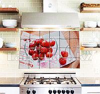 Кухонная наклейка на кафельную плитку 90х60 сочная вишня YL-2030
