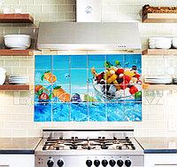 Кухонная наклейка на кафельную плитку 90х60 тропический микс YL-F019