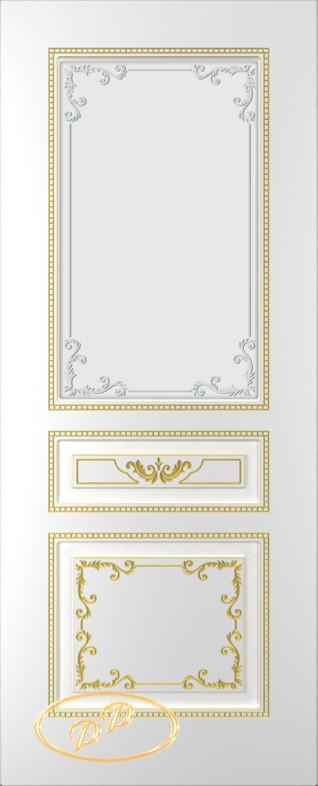 Межкомнатные двери Блюз-эмаль ДО-белое-золото