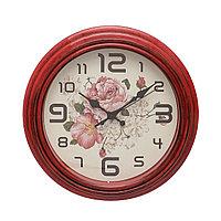 Настенные часы 30*30*4,5 см красные