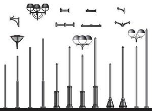 Труба+крепления для установки городского светильника 1,80м