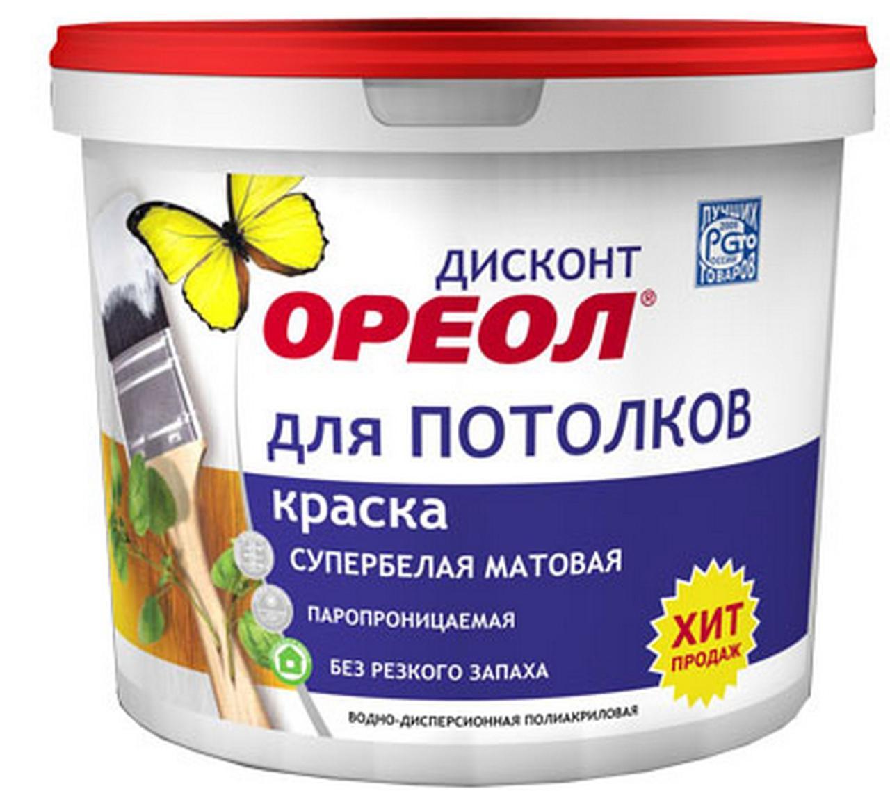 ВДАК Ореол Дисконт для потолков 25 кг