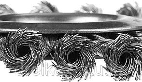 """ЗУБР """"ЭКСПЕРТ"""". Щетка дисковая для УШМ, плетеные пучки стальной проволоки 0,5мм, 200х22мм, фото 2"""