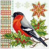 """Набор для вышивания крестом """"Новогодний снегирь"""""""