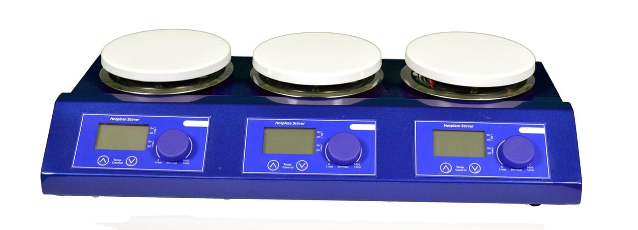 US-3110 Магнитная мешалка 3-х секционная с подогревом