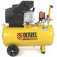 Воздушный компрессор PC 50-260, 1.8 кВт, 260 литров в минуту, 50 литров, 10 бар, DENZEL, 58073