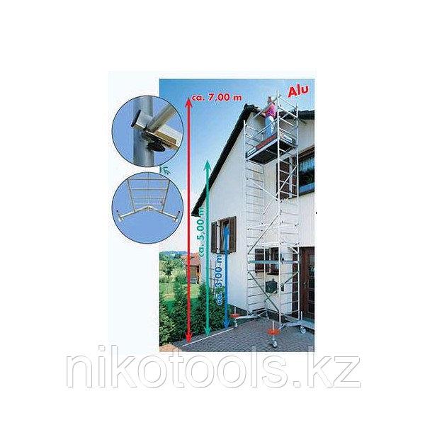 Алюминиевая передвижная вышка ClimTec Высота рабочая 7 м