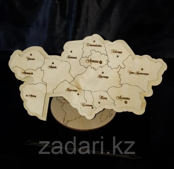 Сувенирная карта Казахстана