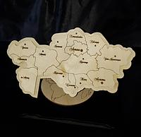 Сувенирная карта Казахстана, фото 1