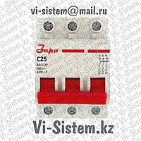 Автоматический выключатель Заря C25 3P-25A
