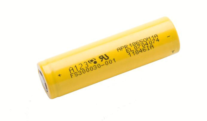 LiFePO4 3.2V, A123 APR18650M1-A, 1100 мАч (аккумулятор литий-железо-фосфатный)