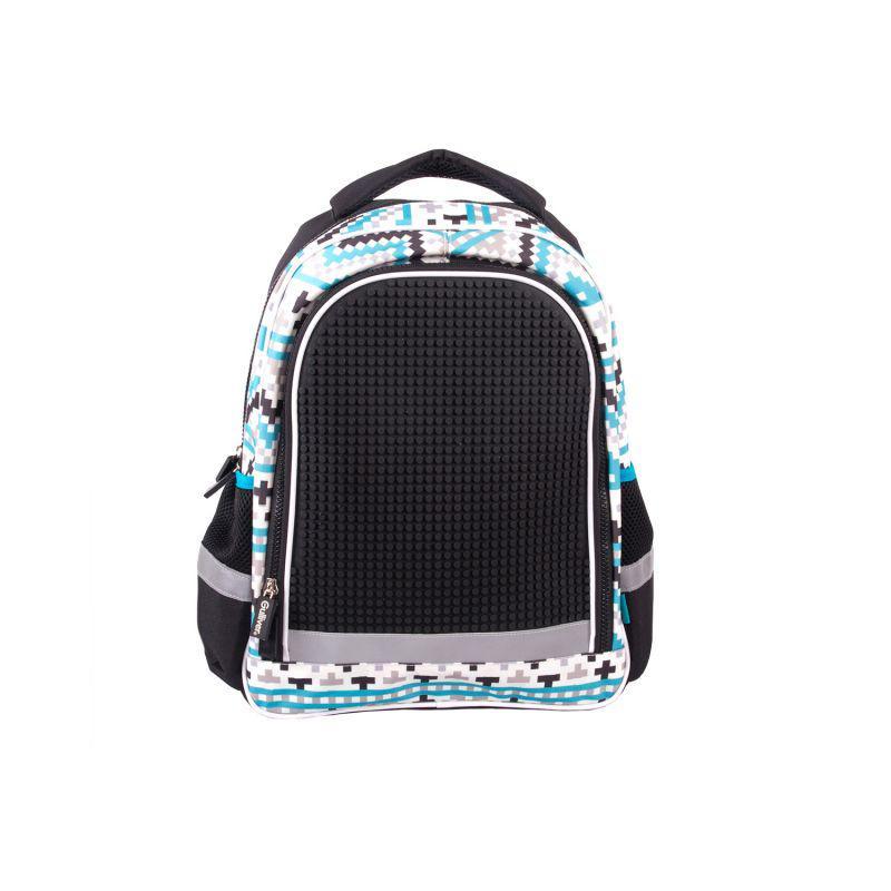 Школьный с пикса-дотами эргономичная спинка (черный)