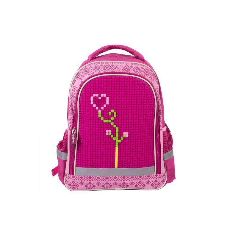 Школьный с пикса-дотами эргономичная спинка (розовый)
