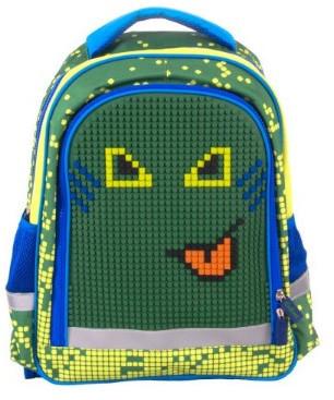 Школьный с пикса-дотами эргономичная спинка (зеленый)