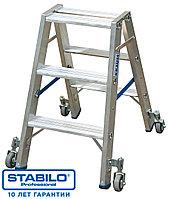 Передвижная двухсторонняя лестница-стремянка 2х4 ступ.  KRAUSE STABILO