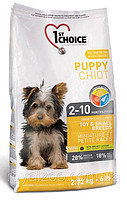 1st Choice Puppy Toy & Small Breed (Фест Чойс) для щенков мини и малых пород с курицей, 350г