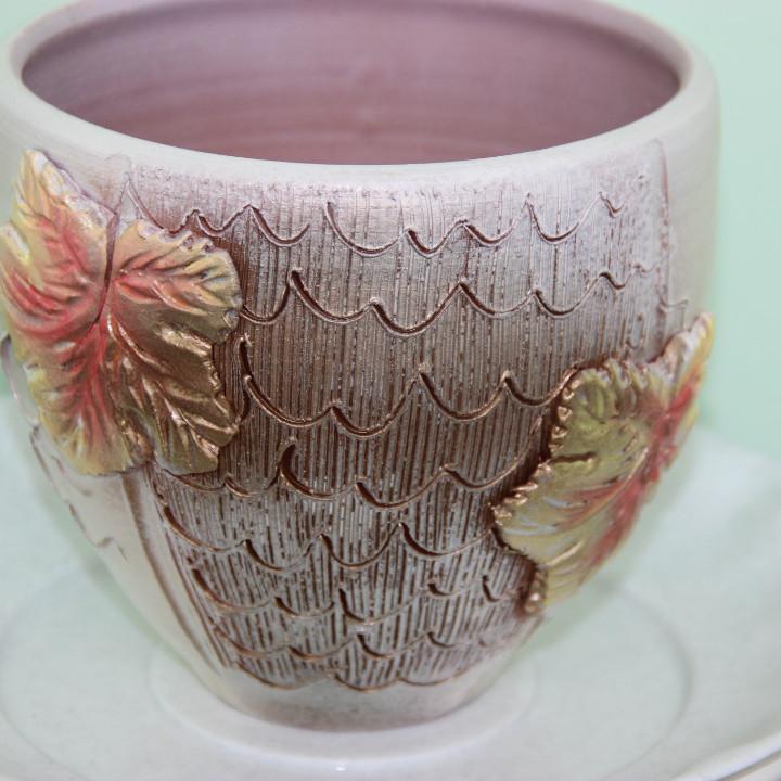 Керамический горшок для цветов .0.5 л
