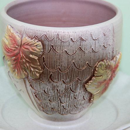 Керамический горшок для цветов.1л, фото 2