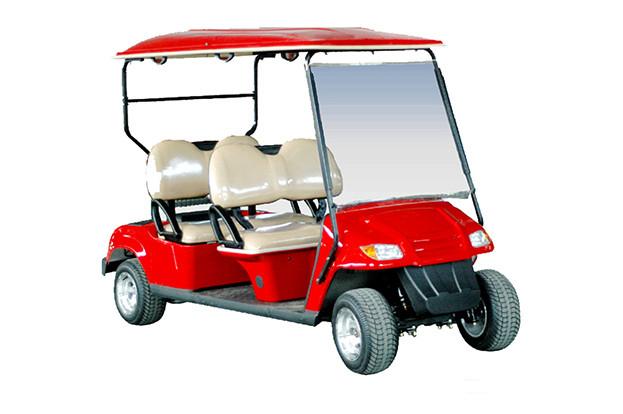 Гольфкар 4-х местный красного цвета EG2049K